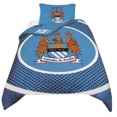Manchester City Bullseye Double Quilt Cover.