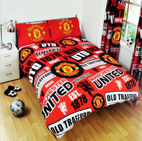 Manchester UTD  FC Patch  Double/Queen   Quilt cover