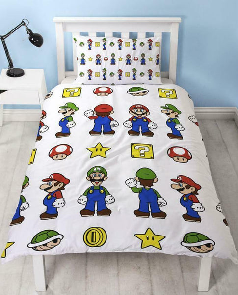 "Super Mario ""Stack"" Single Quilt Cover"