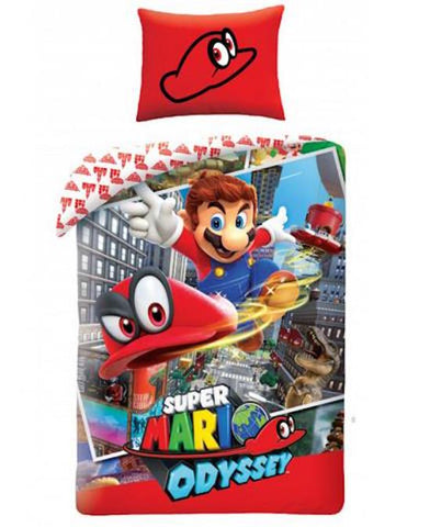 "Super Mario ""Cappy"" Single Quilt Cover"