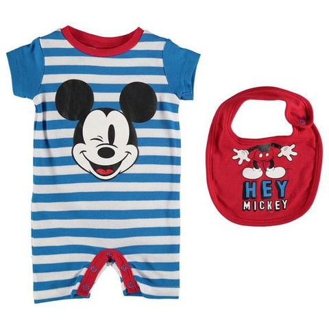 Mickey Mouse Romper and Bib set