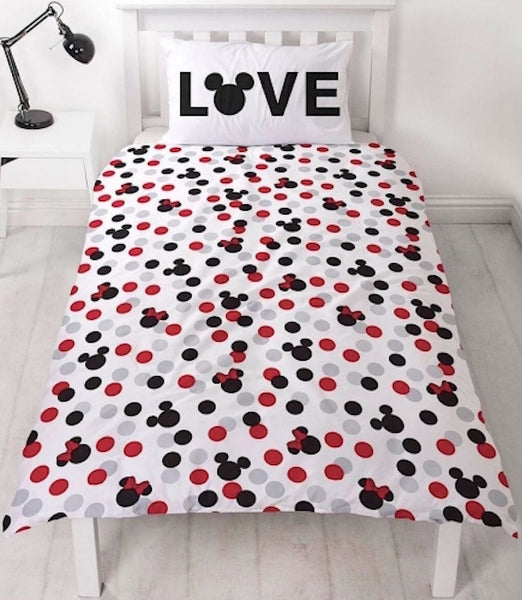 Mickey & Minnie  Mouse single Quilt cover