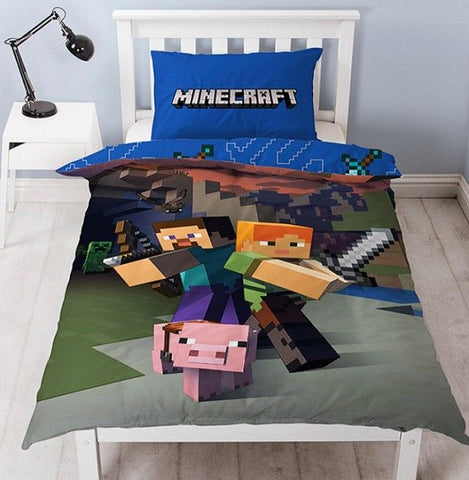 Minecraft Goodguys single  Quilt cover