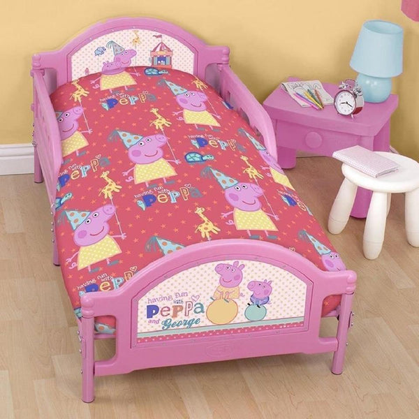 Peppa pig cot toddler quilt cover