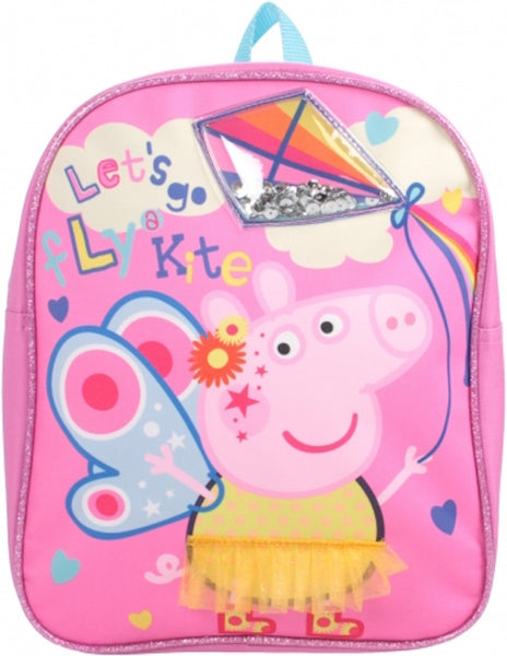 Peppa Pig Small backpack with Sequin kite