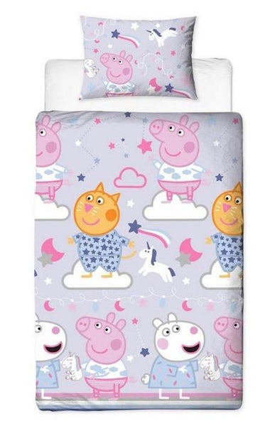 "Peppa Pig ""Sleepy""  Single Quilt Cover."