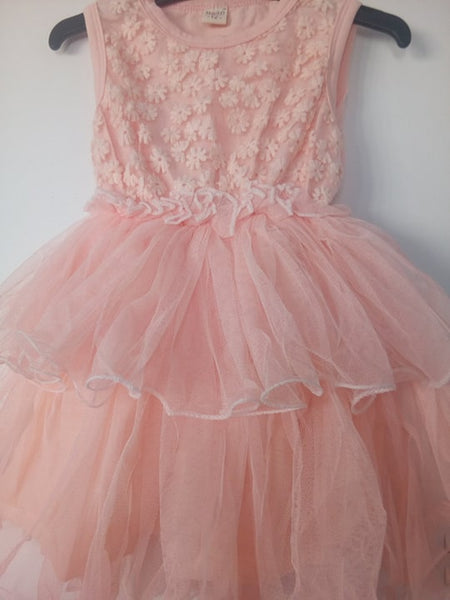 Pink Daisy tutu dress