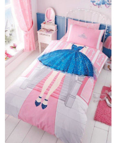 Princess in a Blue Dress Single Quilt Cover