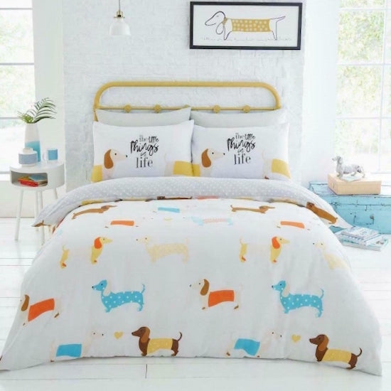 Sausage Dog, Dachshund   Double Quilt Cover