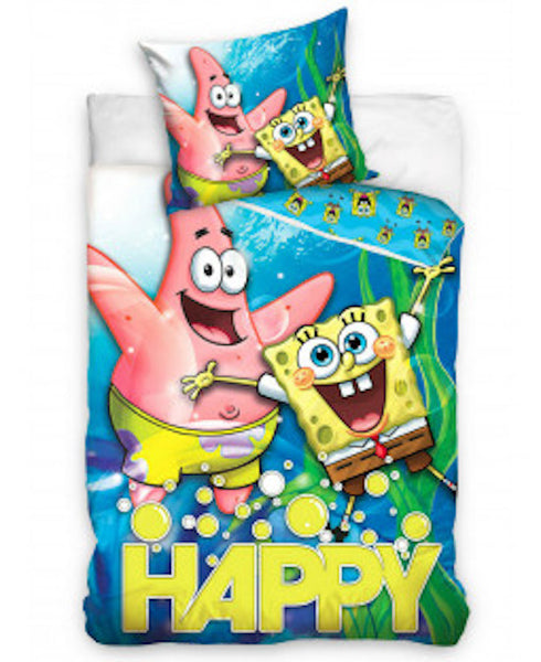 Spongebob Single Quilt Cover, 100% Cotton