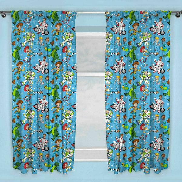 Toy Story 4 Pencil Pleat Curtains