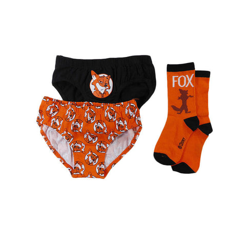 Zootopia  3 pack Briefs and socks