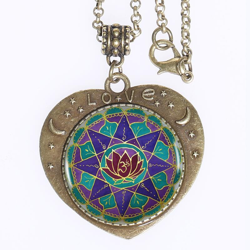 "Collier Mandala Love ""Le Lotus"""