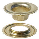 "Brass Grommet with Extended Neck Washer 1/4""- Stimpson"