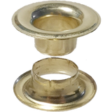 Brass Finished #00 Sheet Metal Grommet And Neck Washer Brass - Stimspon