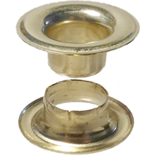 #00 brass grommet and extended neck washer-Stimpson