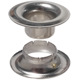 Nickel Plated #00 #00 brass grommet and extended neck washer