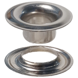 "Nickel Plated  #3 Brass Grommet with Extended Neck Washer 7/16""-Stimpson"
