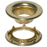 Brass-Rolled-Rim-Grommet-Spur-Washer-#4-Stimpson