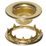 "Brass Rolled Rim Grommet & Spur Washer #5 - 5/8"" - Stimpson"