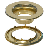 Brass-Rolled-Rim-Grommet-Spur-Washer-#7-Stimpson
