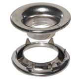 #1 Rolled Rim Grommet and Spur Washer Nickel Plated 1RRGSW-Stimpson