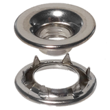 Rolled-Rim-Grommet-Spur-Washer-Nickel-Plated-Stimpson