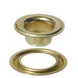 Brass #3 Self-Piercing Grommet & Washer (SPGW3) - Stimpson