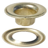 Stimpson Brass Plated #6 SHEET METAL GROMMET and WASHER BRASS  (6GW)