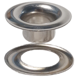 Stimpson Nickel Plated #6 SHEET METAL GROMMET and WASHER BRASS  (6GW)