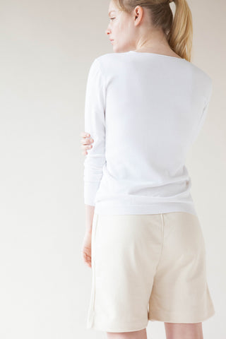 Raw Edge Lightweight Pullover