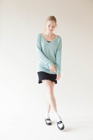 Vegetable Cashmere V-Neck Pullover