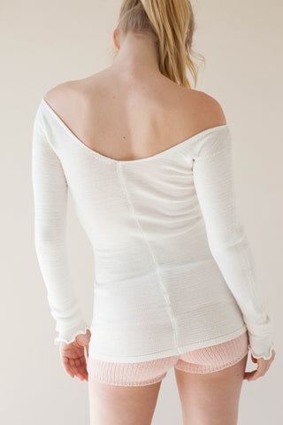 '03' Ballerina Top in Vegetable Cashmere