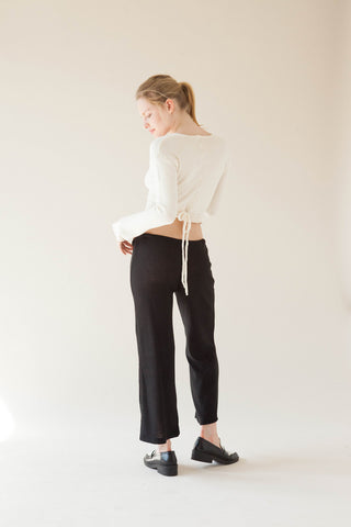 Flowy Krinklespun Cut Off Pants