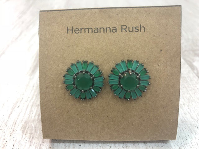 FLORENCE EARRINGS GREEN