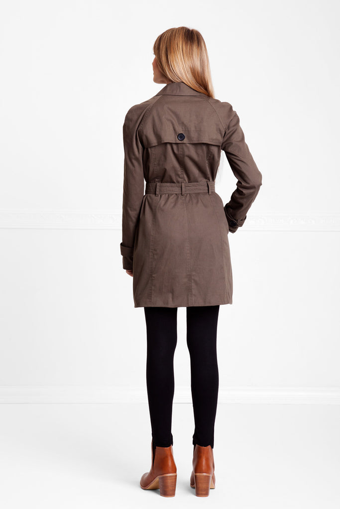 RUSH TRENCH COAT OLIVE