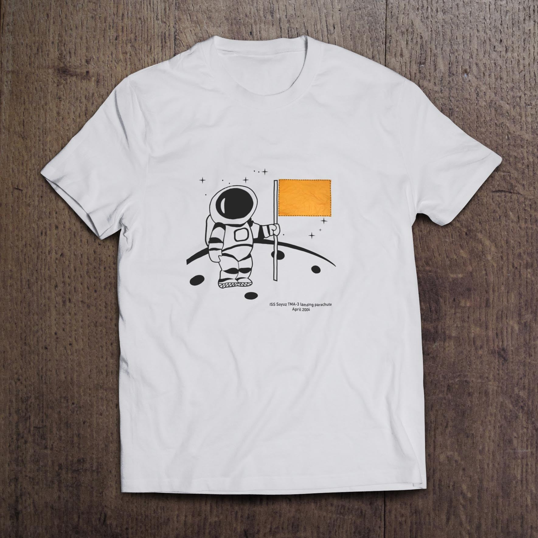 Little Man on the Moon  Soyuz White t-shirt