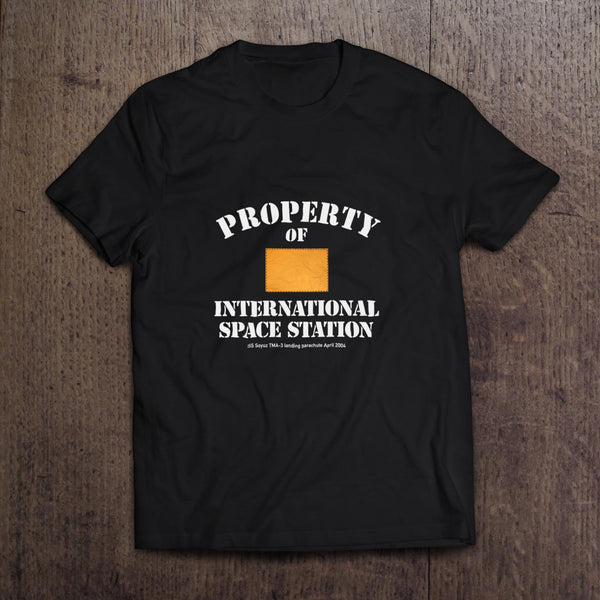 Property of International Space Station Soyuz t-shirt