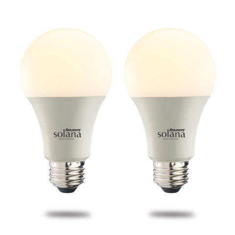 Bulbrite 190121 SL8WA19/W/FR/2P SMART LED WIFI BULB 8W A19 WHITE LIGHT 60W EQUIVALENT 2PK