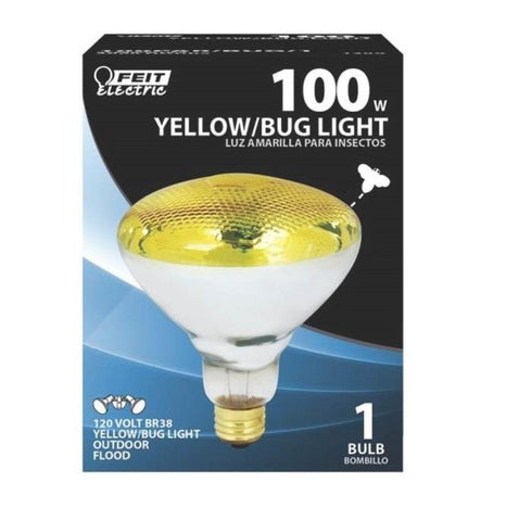 Feit 100PAR/BUG/1 120-Volt Lightweight PAR38 Reflector Yellow Bug