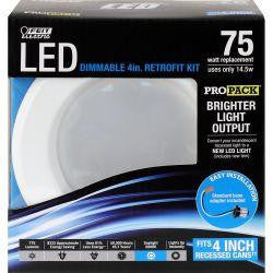 Feit LEDR4HO/850 900 Lumen 5000K 4 Inch Dimmable Retrofit Trim Kit