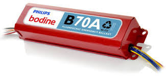 Philips-Bodine b70a linear fluorescent emerg ballast