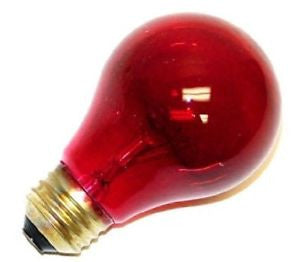 Bulbrite 105725 25A/TR  Transparent Colored Red Bulb