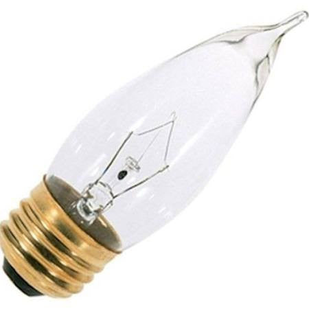 Satco A3664 25CA10 25W Incandescent - Medium Base, 130V Bulb