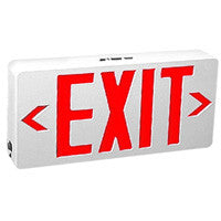 TCP 22742 Red LED Exit Sign White Housing AC Only