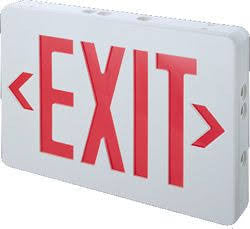TCP 22743 Red LED Exit Sign Battery Backup
