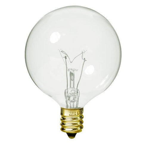 Bulbrite 391115 15G16CL2 15-Watt Incandescent G16.5 Globe Clear
