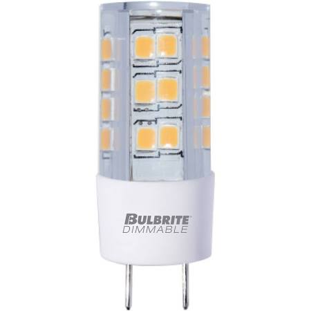 Bulbrite 770576 LED4GY8/30K/120/D 4.5W LED GY8 CLEAR 3000K 120V DIMMABLE