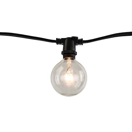 Bulbrite 810054 STRING10/E12/BLACK-G16KT String Light 10 Sockets G16 Bulb