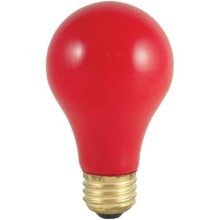 Bulbrite 106740 -40 watt - 120 volt - A19 - Medium Screw (E26) Base - Ceramic Red